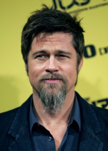 "Actor Brad Pitt poses for photographers during a news conference to promote the movie ""Inglourious Basterds"" in Tokyo"