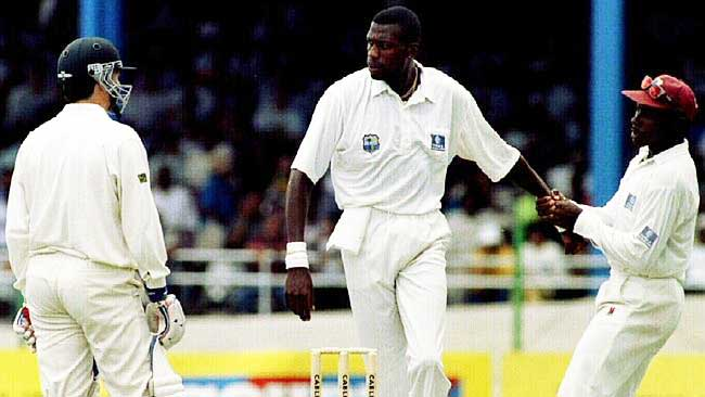 Steve Waugh - Curtly Ambrose