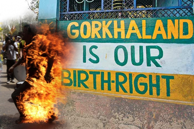 Gorkhaland_youth_self_immolates_at_Kalimpong