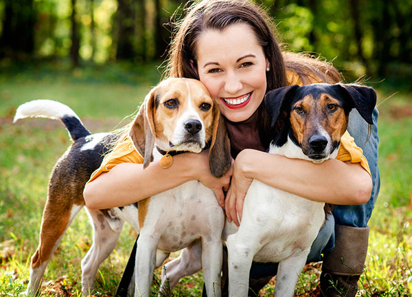 young-woman-with-two-dogs