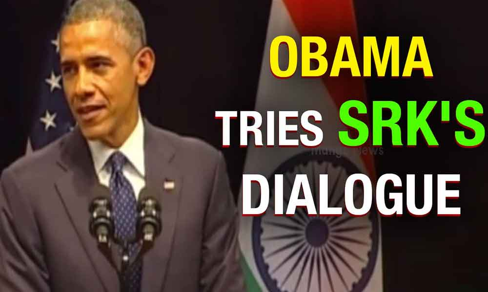 Obama speaks SRK dialogue
