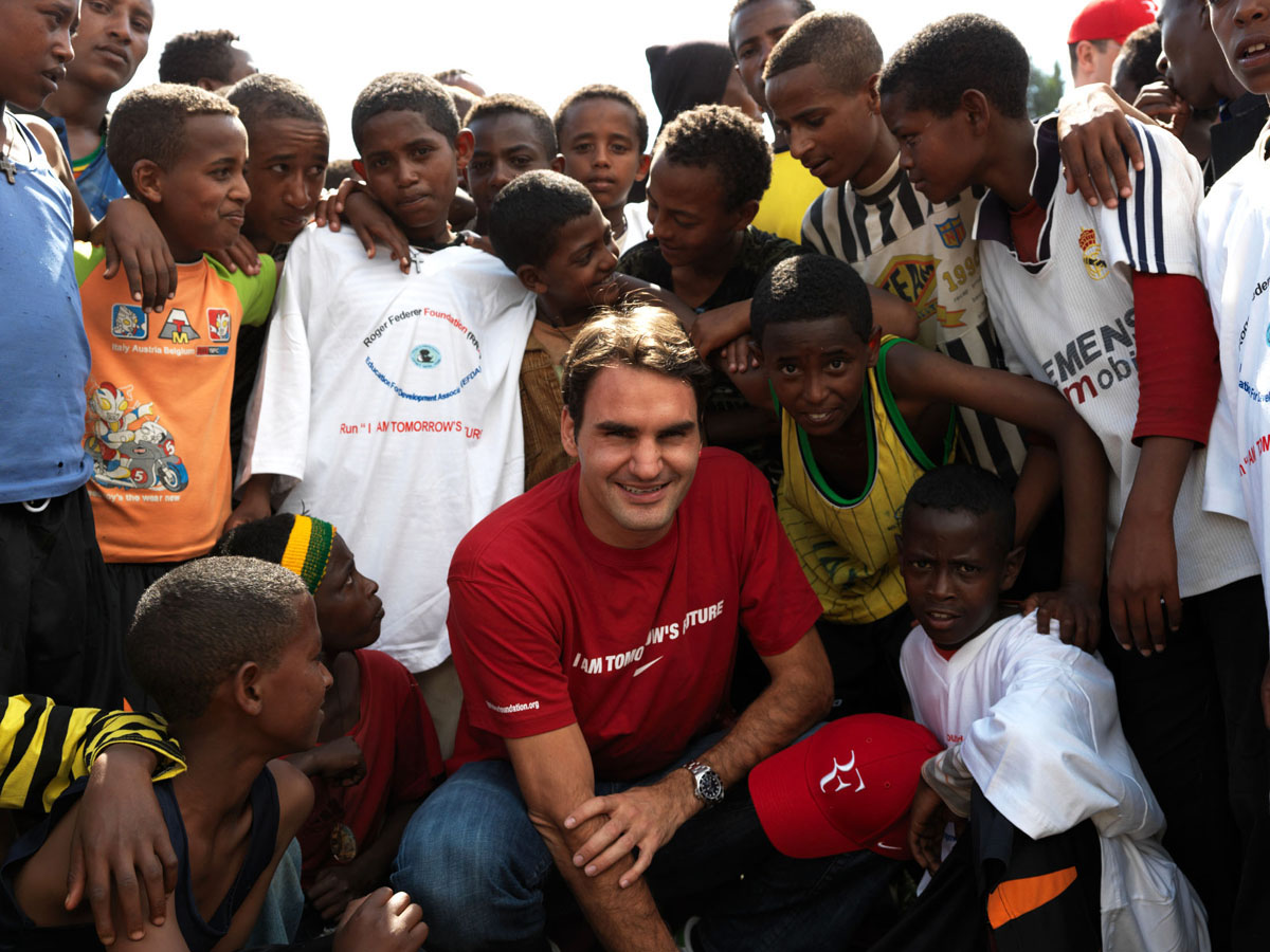 The Swiss player has helped underprivileged children via Roger Federer Foundation
