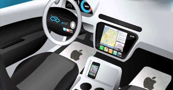Apple iCar proposed interior