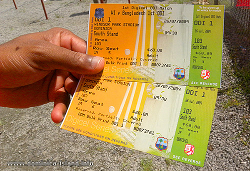Collecting cricket match tickets pave way for good/bad memories