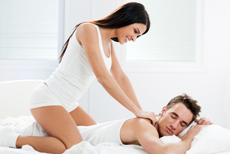 Men love getting massage from their partner
