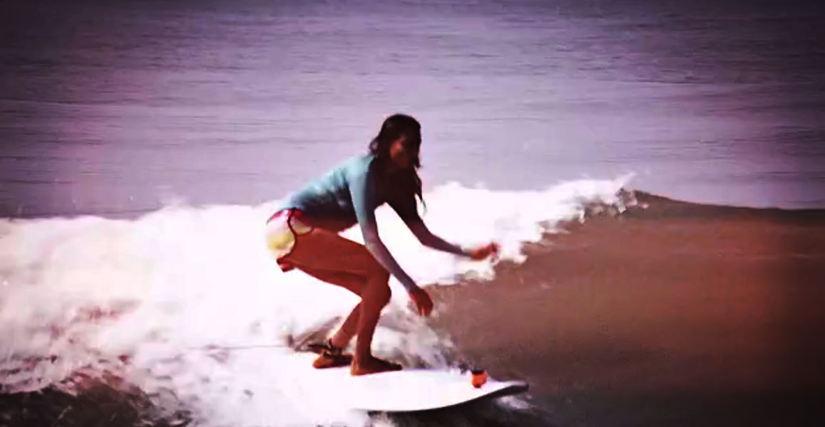 Indian woman surfer
