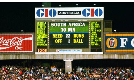 Rain saved England against South Africa at the 1992 World Cup