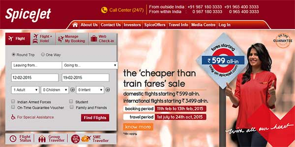 Spicejet offers cheapest fare