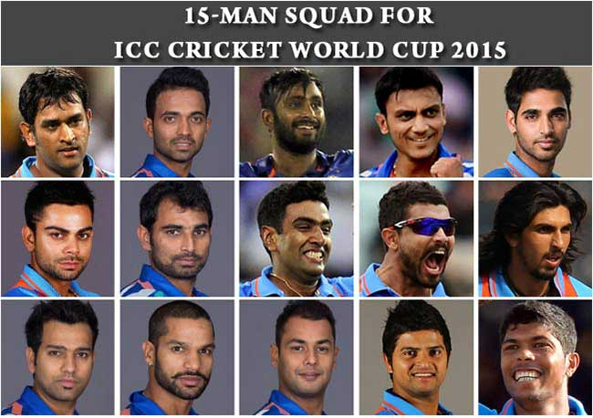 Team India World Cup 2015