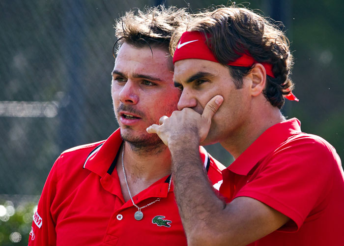 Wawrinka and Federer will not play against Belgium in March