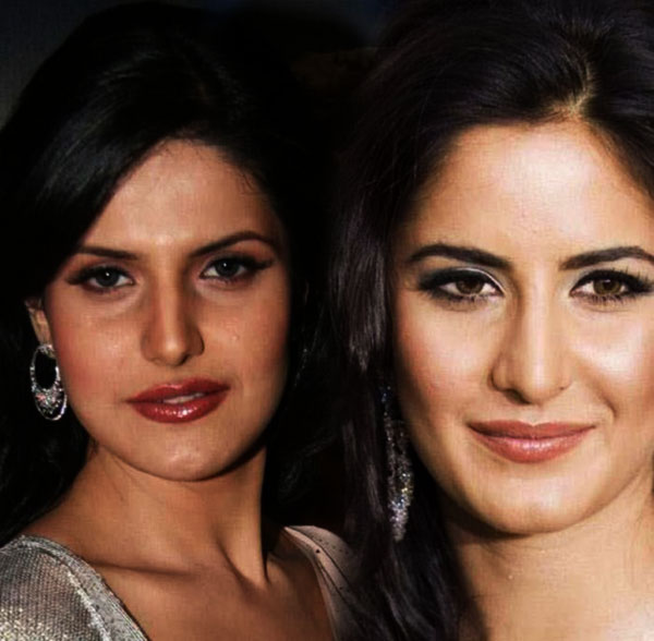 Katrina Kaif and her look alike Zarine Khan