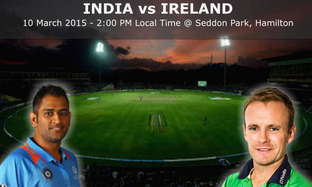 India vs ireland WC 2015