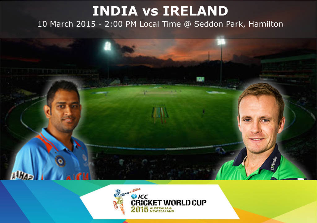 India and Ireland compete on 10th March
