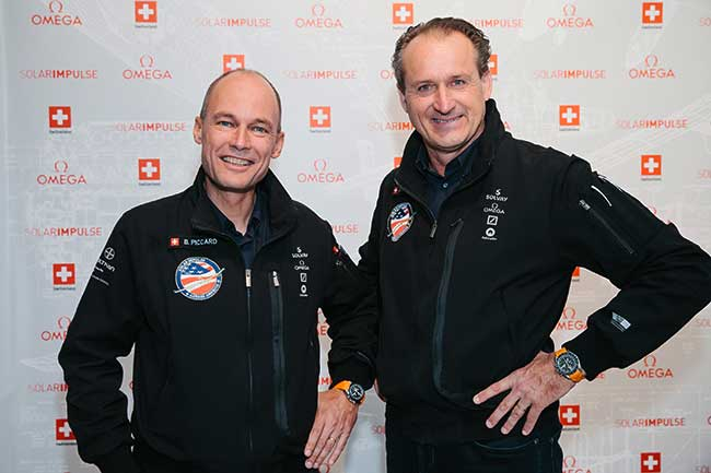 Solar Impulse pilots Bertrand Piccard and Andre Borschberg