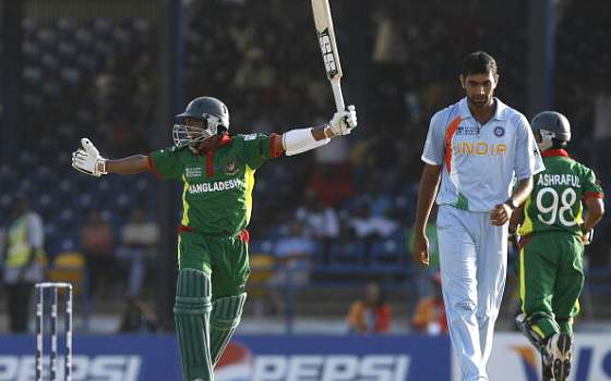 Bangladesh beat India by 5 wickets in the 2007 World Cup