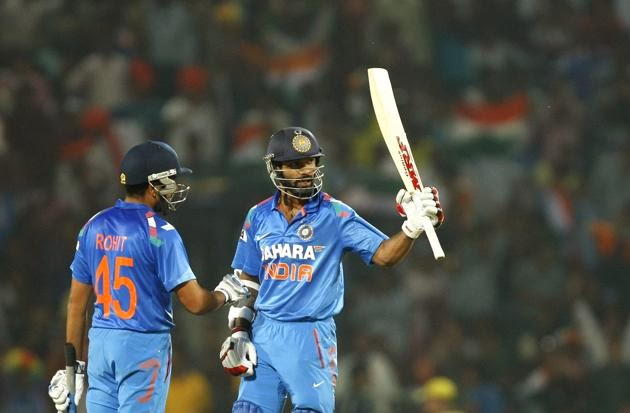 Shikhar Dhawan and Rohit Sharma's opening stand helped India chase Australia's colossal target