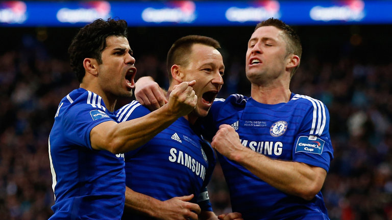 John Terry scored Chelsea's first goal in the 45th minute
