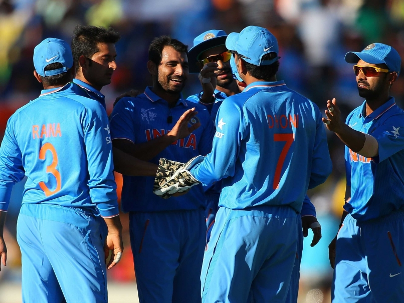 Mohammed Shami claimed the wicket of Chris Gayle