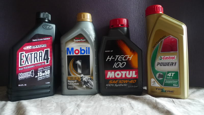 The motorcycle oil you use gives the best energy