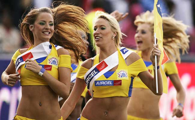 Cheerleaders of Chennai Super Kings have not been far either