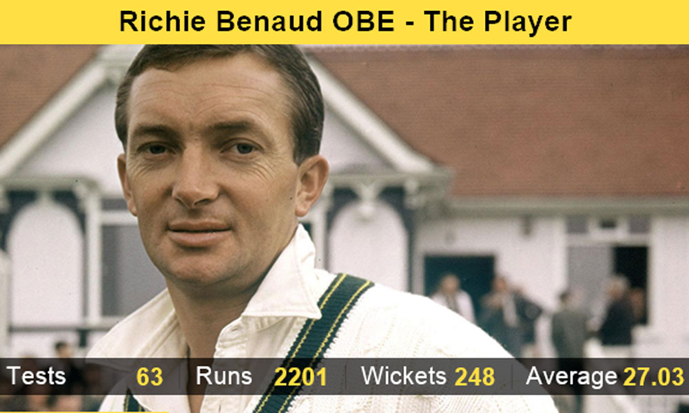 Richie Benaud was the recipient of the coveted OBE