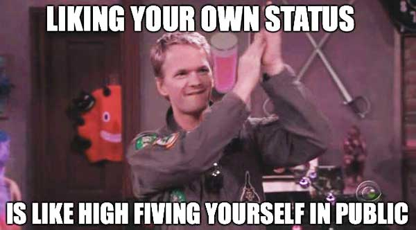 Liking-your-own-facebook-status