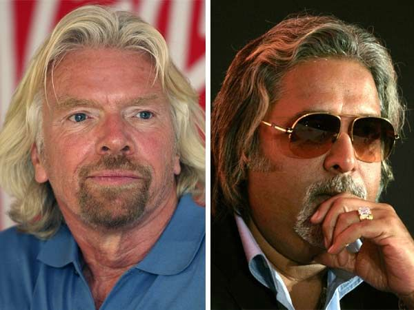 Richard Branson and Vijay Mally sported similar look for some time