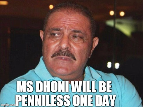 This time around, Yograj decided to throw curses at MS Dhoni