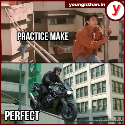 Perfect example of practice makes men perfect