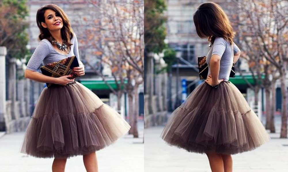 ways of carrying a balloon skirt