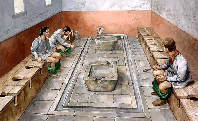 History behind Romans using urine