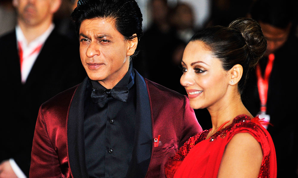 Shahrukh Khan With His Wife