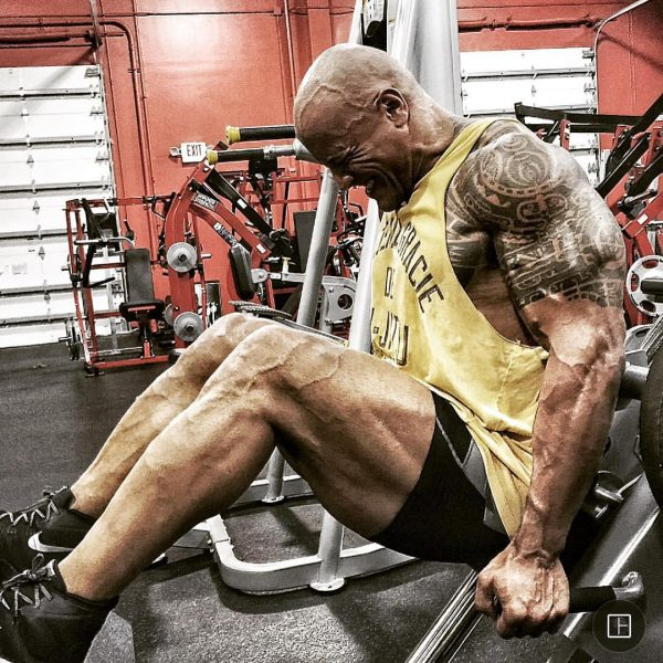 Dwayne Johnson's Workout Pictures