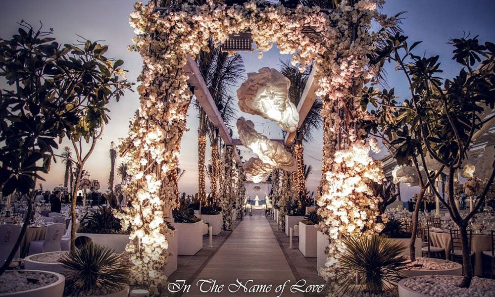 Wedding at Burj Al Arab terrace