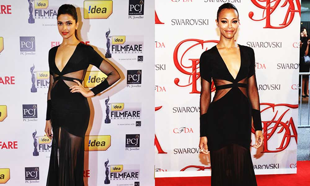 Deepika copying hollywood dresses