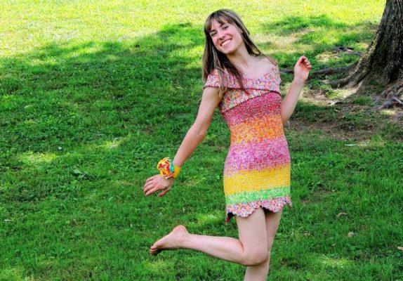Dress Made Out Of Candy Wrappers