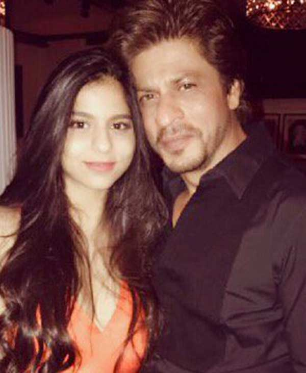 Shahrukh Khan with Suhana