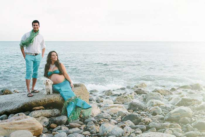 Mermaid maternity shoots