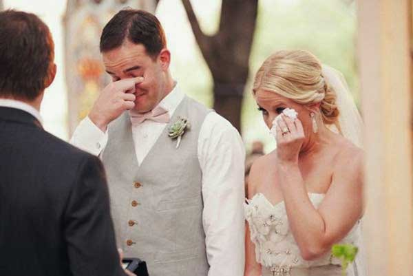 After seeing their brides