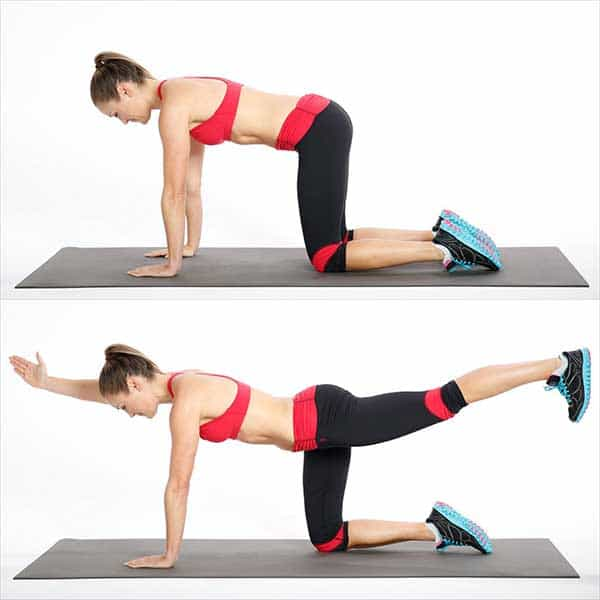 Exercises for flabby back