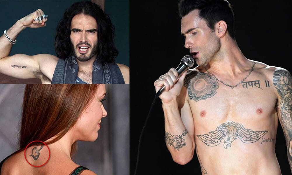 Hollywood stars who got Indian tattoos