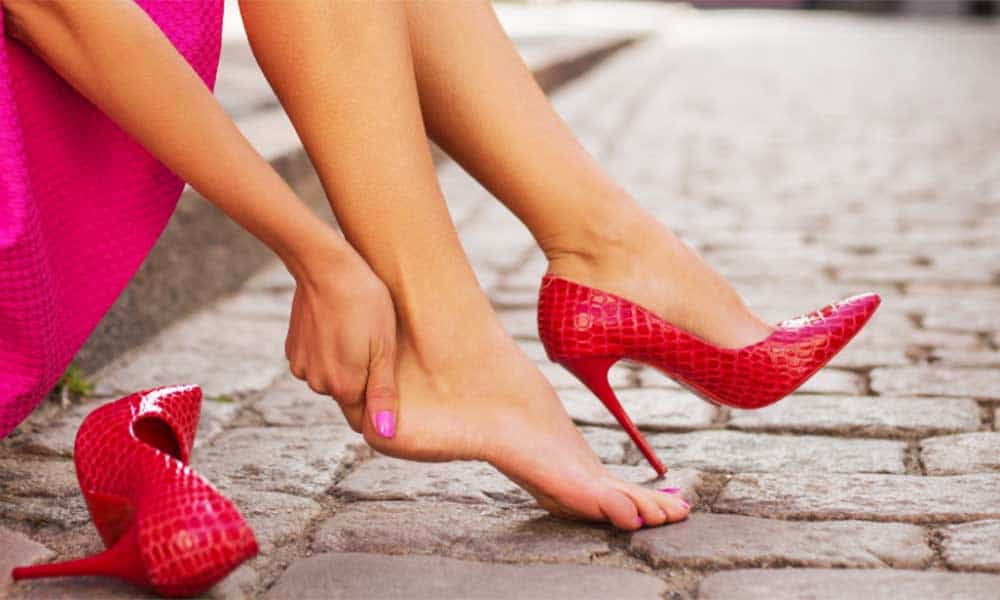 High heels without growing blisters