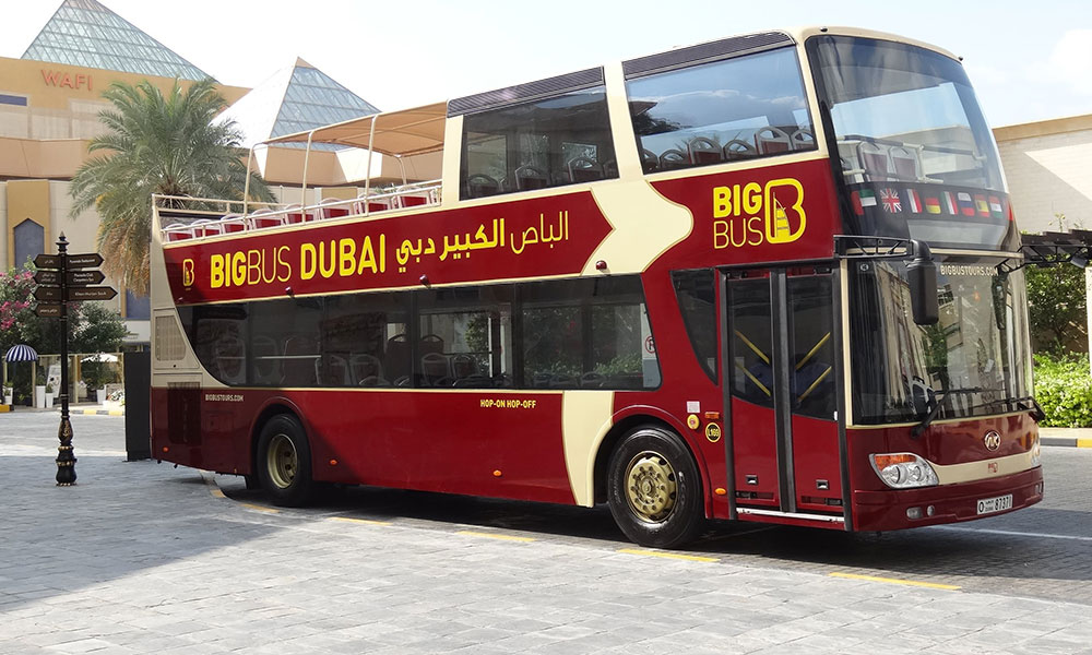 Traveling Dubai by bus