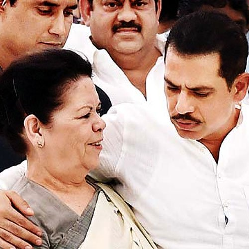 Image result for Robert Vadra with mother
