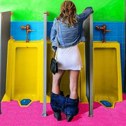 Woman can pee while standing