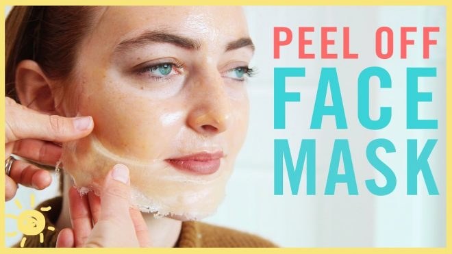 DIY face peeling packs off mask