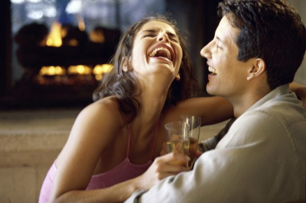 couples in laughter in love