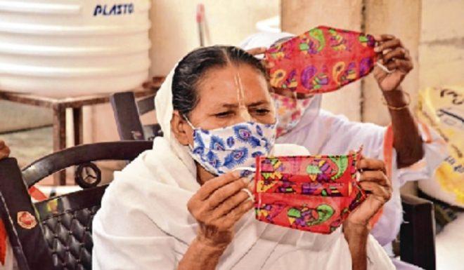 north india widows masks